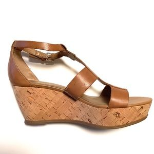 FRANCO SARTO | Falco Sandals Cork Wedge Strappy